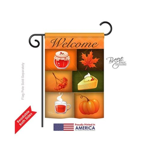 Breeze Decor 63050 Harvest & Autumn Scents of Harvest 2-Sided Impression Garden Flag - 13 x 18.5 in.