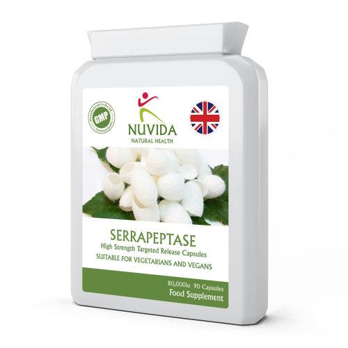 Serrapeptase 80,000iu / 90 Targeted Release Capsules /Daily Supplement