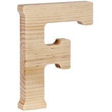 """Walnut Hollow Wood Letter 5""""-F"""