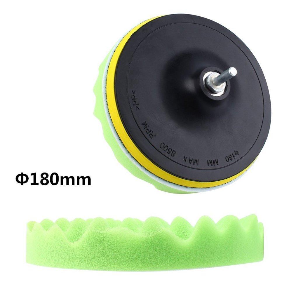 Yosoo 7Pcs 5/6/7 Sponge Polishing Waxing Buffing Pads Kit Set Compound Auto Car Polisher M14 Drill Adapter Kit 4