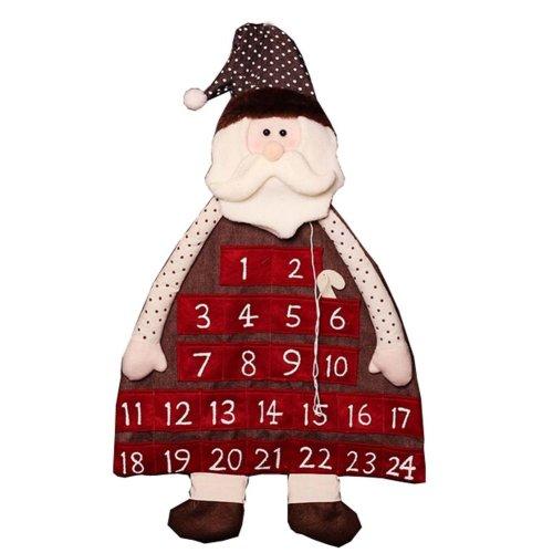 Father Christmas Countdown Calendar Environmental Christmas Decorations