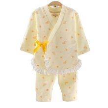 Girls Long - sleeved Cotton Air Layer Kimono Pajamas Children 's Pajamas Suit