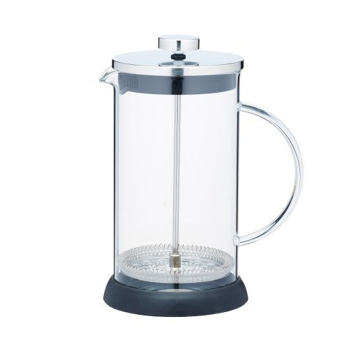 KitchenCraft Le'Xpress 8-Cup Glass/Stainless Steel Cafetiere, 1 L (1.75 Pints)