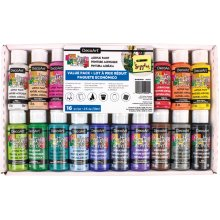 Americana Acrylics Value Pack 16/Pkg-Assorted Colors