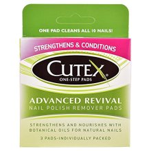 Cutex OneStep Pads Advanced Revival Nail Polish Remover Pads 3 count
