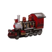 Creative Vintage Cartton Red Locomotive Piggy Bank/Coins Tank