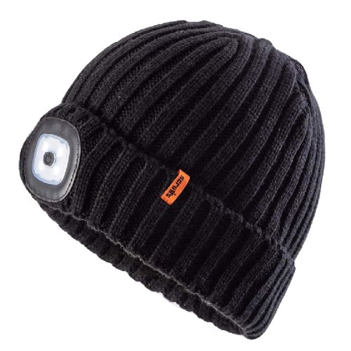 Scruffs LED Beanie Warm Winter Work Hat Rechargeable LED Headlight
