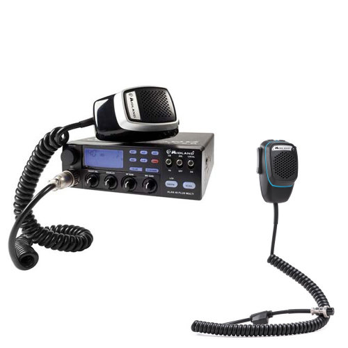 Bundle   CB Radio  Midland Alan 48 Multi Plus B + Smart Dual Mike with 6-pin Bluetooth