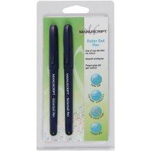 Manuscript Roller Ball Pen Twin Pack-Black Ink