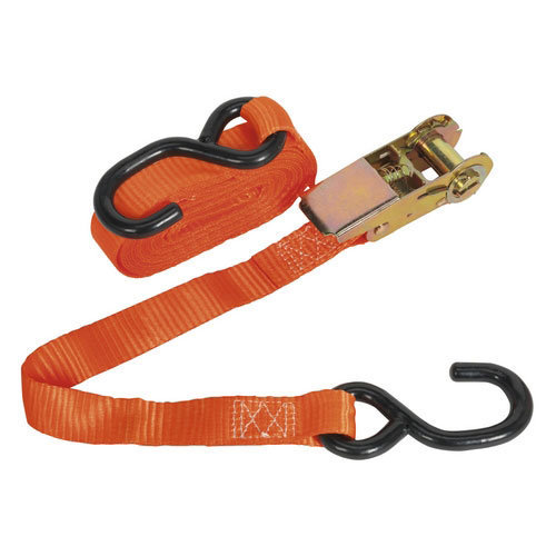 Sealey TD0845S 25mm x 4.5mtr Polyester Webbing Ratchet Tie Down with S Hook 800kg Load Test