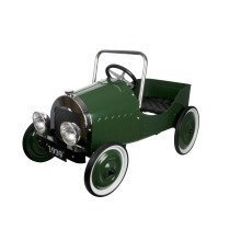 Green Classic Pedal Car - Ride On