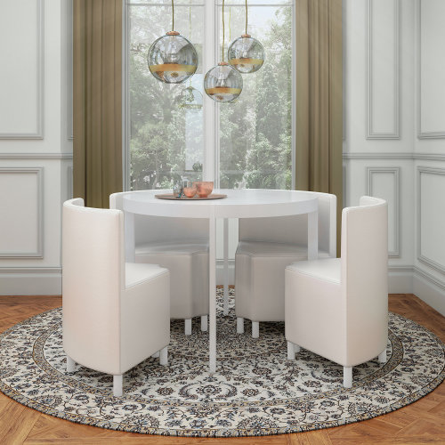 Rotunda High Gloss Space Saver Dining Set