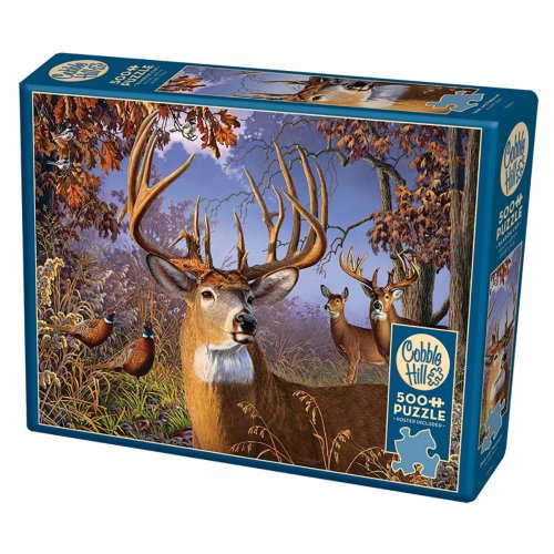 CBL85054 - Cobblehill Puzzles 500 pc - Deer and Pheasant