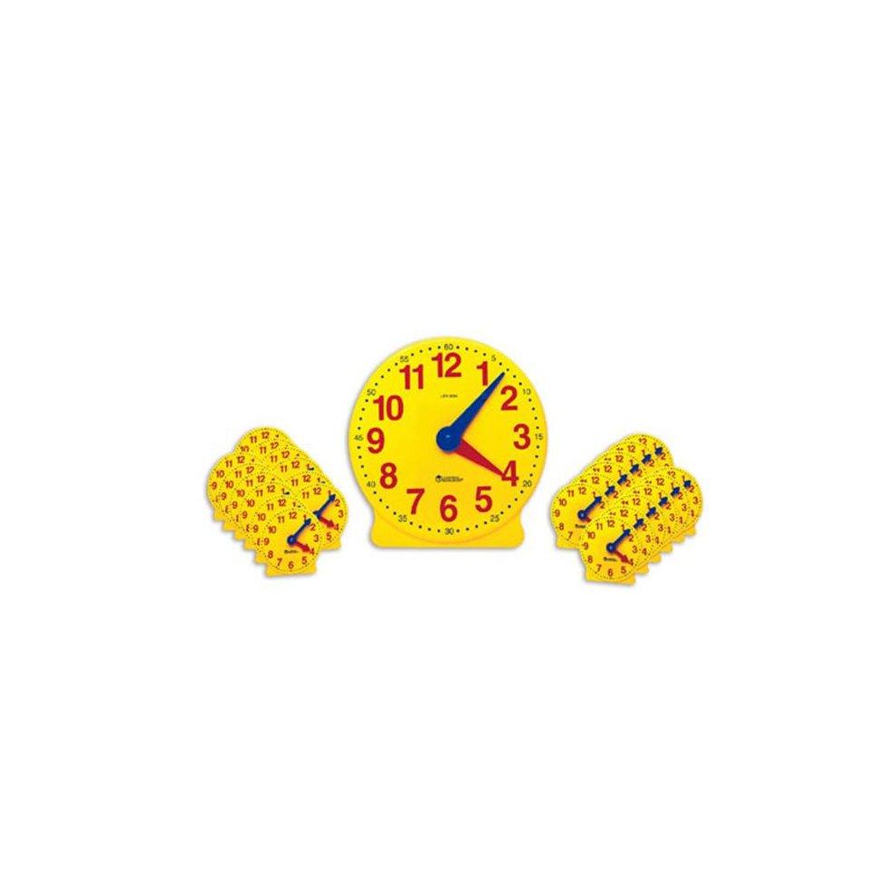 LEARNING RESOURCES LER2102 CLASSROOM CLOCK KIT-2094 & 24 MINI-CLOCKS