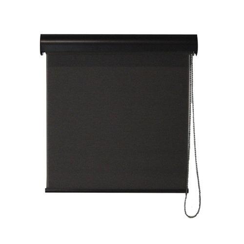 Keystone Fabrics I40.34.3008 Interior Corded Sunshade with Valance, Dark Brown - 34 x 72 in.