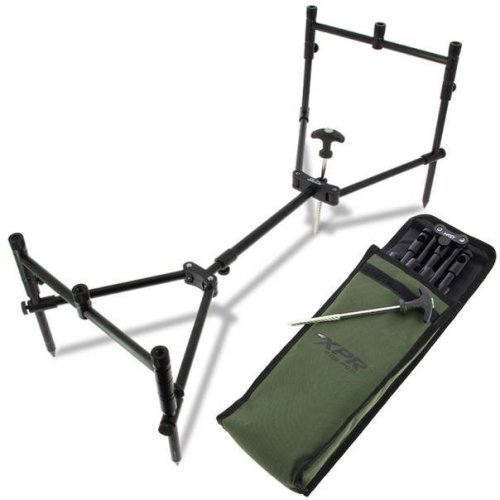 NGT ROD POD CARP FISHING FULLY ADJUSTABLE LIGHTWEIGHT COMPACT 3 ROD POD XPR