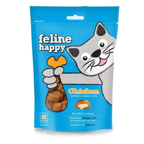 Feline Happy Chicken Treats 60g (Pack of 8)