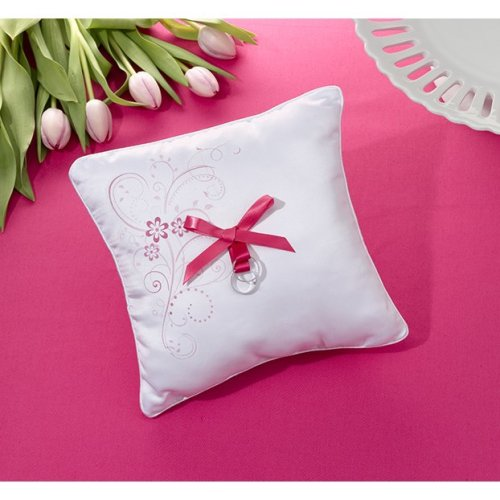 Pink Floral Ring Cushion