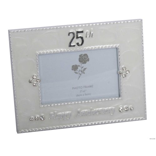 25th Happy Anniversary Photo Frame by Shudehill giftware
