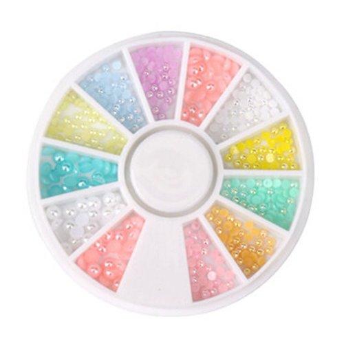 2 Packs Beautiful Nail Art Decoration Random Color,Style 2