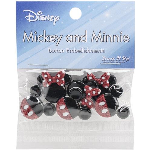 Dress It Up Licensed Embellishments-Disney Mickey & Minnie