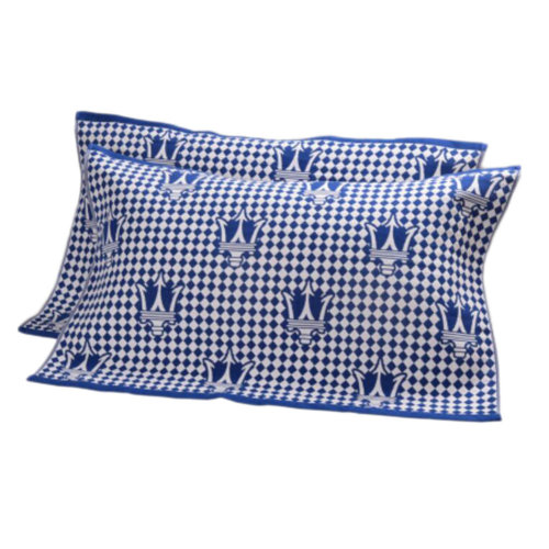 2 PCS Cotton Three Layer Thicken Pillow Towel Soft Pillow Blanket Protector Best Skin Care, Blue
