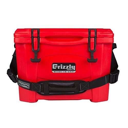 Grizzly 15 Quart Red Cooler Red