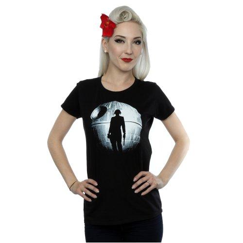 Star Wars Women's Rogue One Death Star Jyn Silhouette T-Shirt