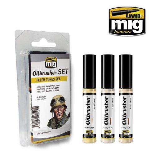 Ammo by Mig Oilbrushers Set - Flesh Tones Set