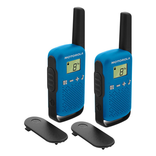 Portable PMR radio station Motorola TALKABOUT T42 BLUE set with 2 pcs