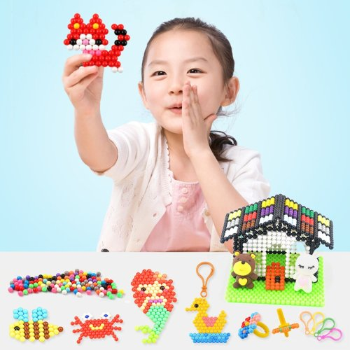 1100pcs 10 Grid DIY Fuse Beads Water Sticky Beads Art Craft Toys Kids