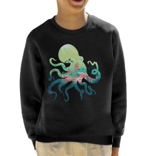 Octopus Mermaid Silhouette Kid's Sweatshirt