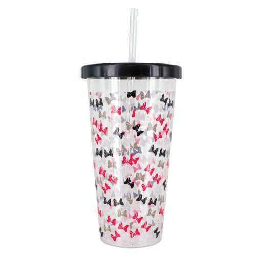 Disneys Minnie Mouse Tumbler Cup and Straw