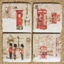 Ceramic Coasters British Winter Design