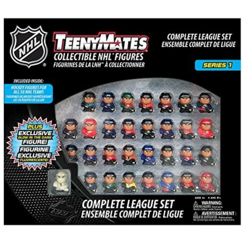 "TeenyMates NHL Series 1 Complete League Set, 30 NHL Team 1"" Collectible Figures"