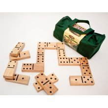Traditional Garden Games Quality Giant Wooden Dominoes Set