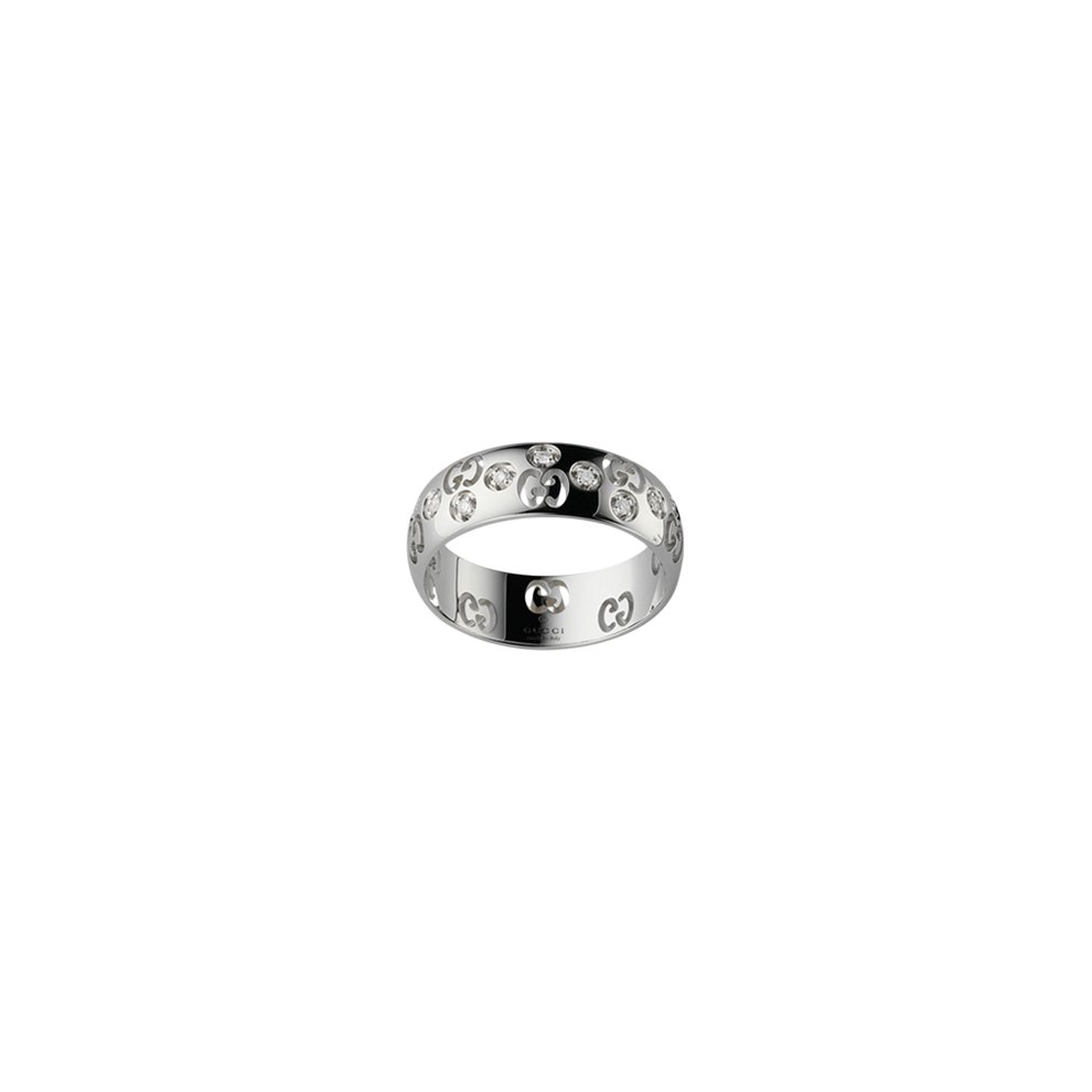 dd45283a5 GUCCI RING ICON BOLD WHITE GOLD AND diamonds size 15 246484 J8540 9066 on  OnBuy