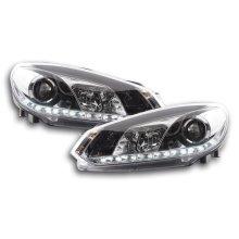 Daytime running lights headlight Daylight VW Golf 6 type 1K Year 08- chrome