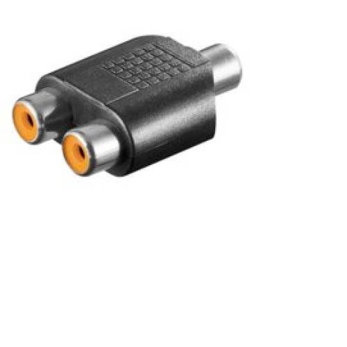 Microconnect AUDCFF 2 x RCA RCA Black cable interface/gender adapter