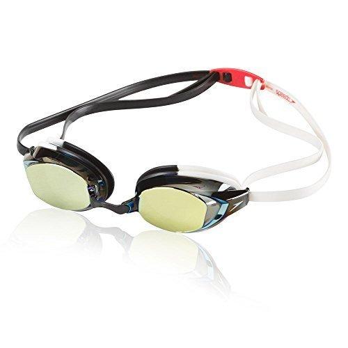 Speedo Vanquisher Ev Mirrored Swim Goggles White Black One Size