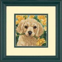 D07231 - Dimensions Mini Needlepoint - Puppy Mischief