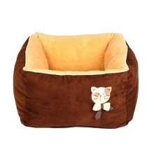 [Square Chocolate] Faddish & Soft Pet Nest,Deep Sleep Cat Bed (45*45*27CM)