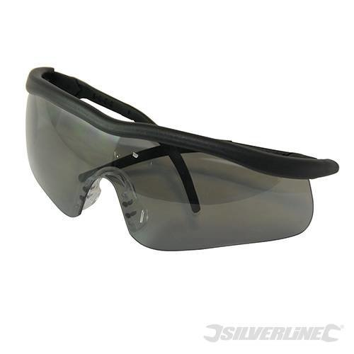 Silverline Smoke Lens Safety Glasses Shadow -  safety glasses silverline smoke lens 140898 shadow goggles polycarbonate qty 2 5 10
