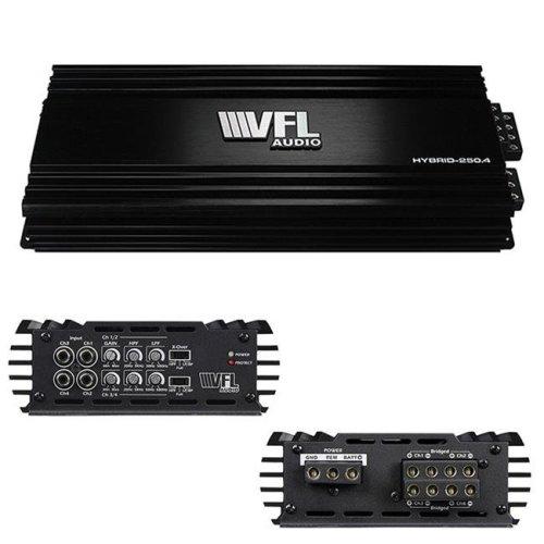 American Bass VFLHYBRID2504 1000 watt 4 Channel VFL Audio Hybrid Amplifier