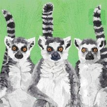 4 x Paper Napkins - Lemur Amigos - Ideal for Decoupage / Napkin Art