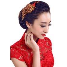 Flower Rhinestones Beads Bridal Wedding Lace Headband Hair Accessories, I
