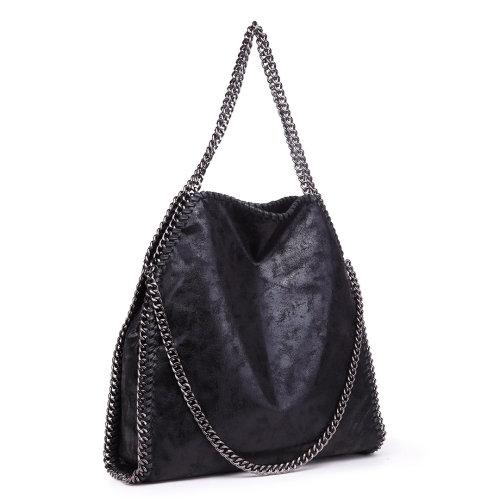 Miss Lulu Women Shoulder Handbag PU Leather Chain Clutch Bag