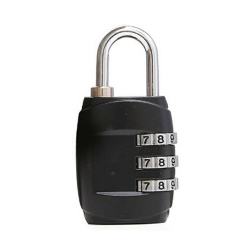 Mini 3 Digits Travel Luggage Suitcase Metal Coded Lock?Black,A