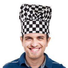 TRIXES Chef Hat Black & White Chequered