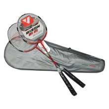 2 Packs Badminton Racquets Red Rackets for Wholesale with Case